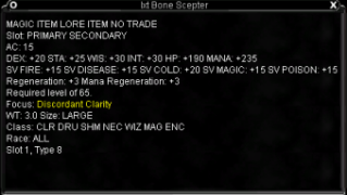 Bone Scepter Stats