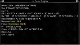 Bone Scepter Stats